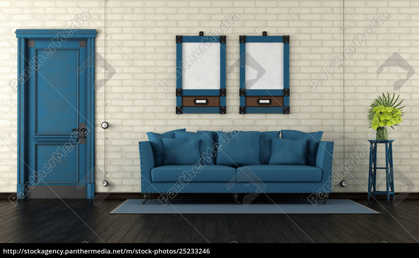 retro, living, room - 25233246