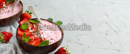strawberry, smoothie, bowls - 25237024