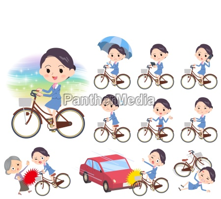 cabin attendant blue womencity bicycle