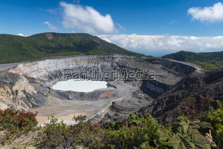 caldera with crater lake volcano poas