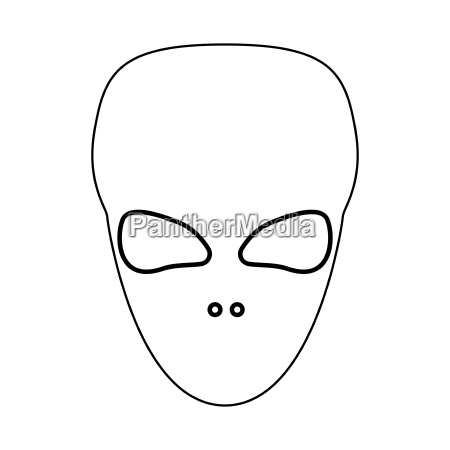 extraterrestrial alien face or head black