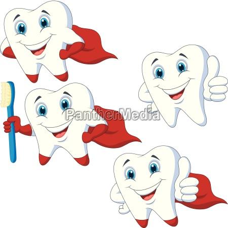 cartoon teeth collection set