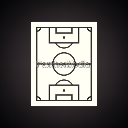 icon of aerial view soccer field