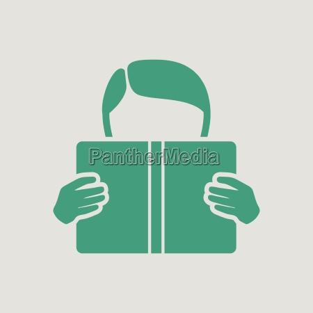 boy reading book icon
