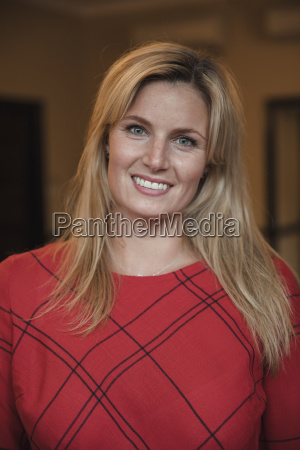 beautiful mid adult businesswoman smiling for