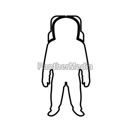 spaceman black color icon