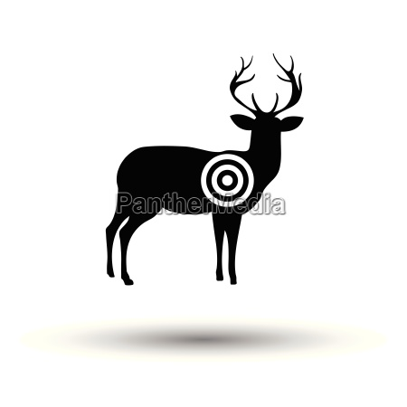 deer silhouette with target icon
