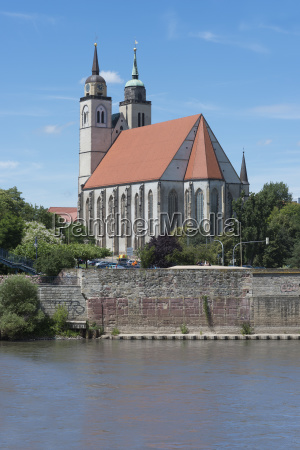 st johns church with elbe lutherstatte