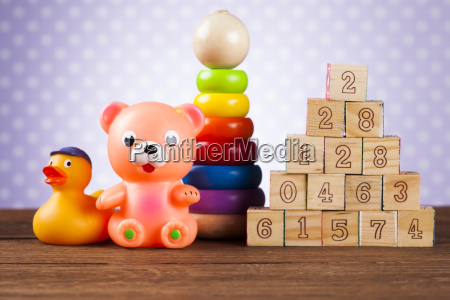 children's, of, toy, accessories, on, wooden - 25313460