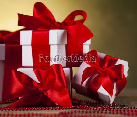 christmas, background, with, decorations, and, gift - 25313254
