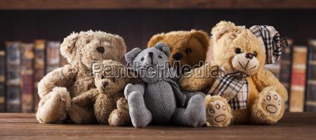group, of, cute, teddy, bears, on - 25313204