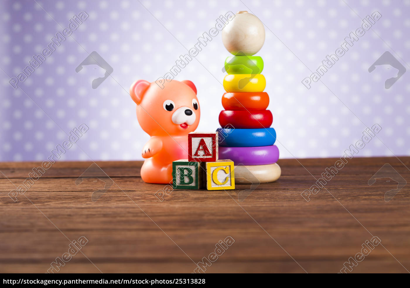 pile, of, toys, , collection, on, wooden - 25313828