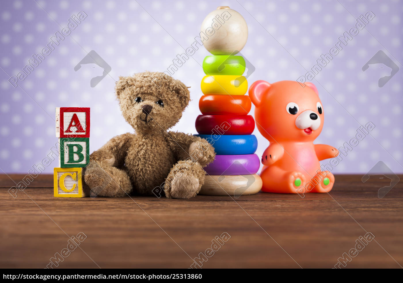 pile, of, toys, , collection, on, wooden - 25313860