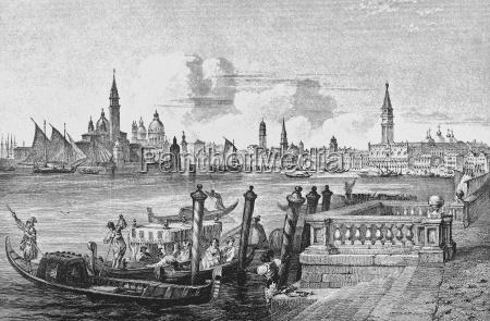 historical city town art venice europe