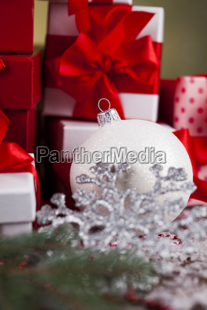 beautiful, gift, box, with, red, ribbon - 25314902