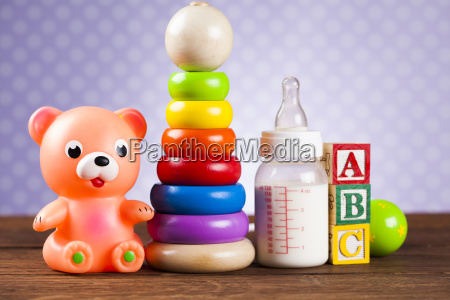 children's, of, toy, accessories, on, wooden - 25314986