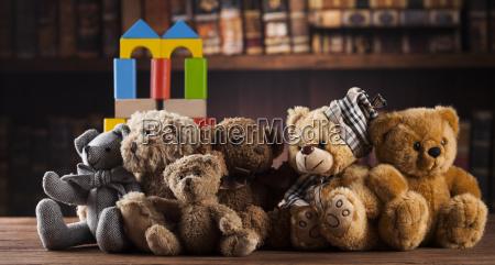 group, of, cute, teddy, bears, on - 25314786