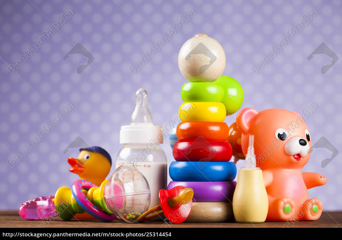 pile, of, toys, , collection, on, wooden - 25314454