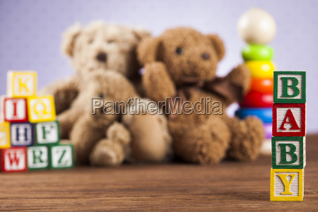 baby, block, , toys, collection, on, colorful - 25315196