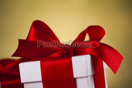 christmas, gift, box, , red, ribbon - 25315192