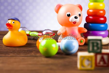 children's, of, toy, accessories, on, wooden - 25318546
