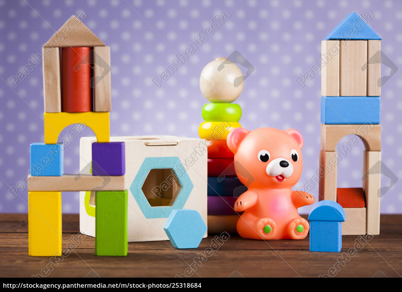 children's, of, toy, accessories, on, wooden - 25318684