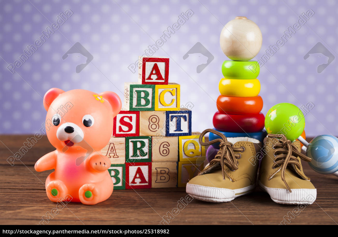 children's, of, toy, accessories, on, wooden - 25318982