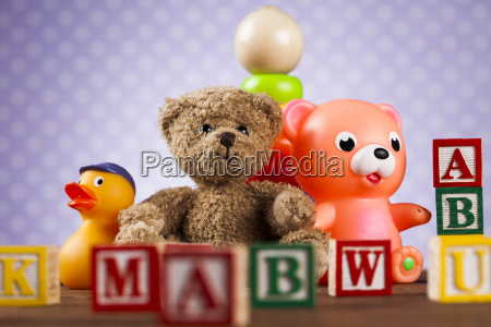 pile, of, toys, , collection, on, wooden - 25319034