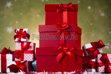christmas, background, with, decorations, and, gift - 25327760