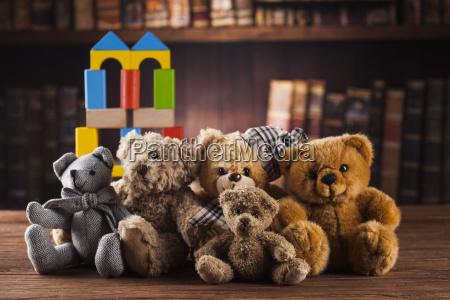 group, of, cute, teddy, bears, on - 25327600