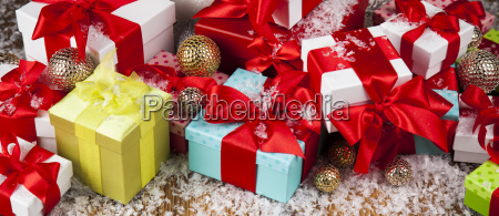 holiday, christmas, background, with, stack, of - 25327446