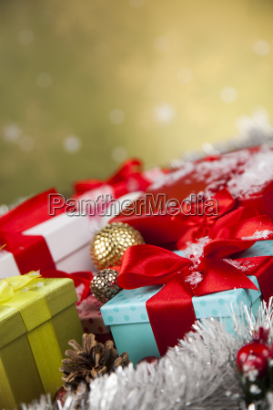 holiday, christmas, background, with, stack, of - 25327608