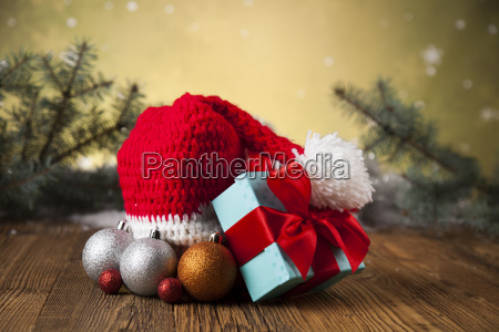 red, santa, hat, , holiday, christmas, background - 25327310