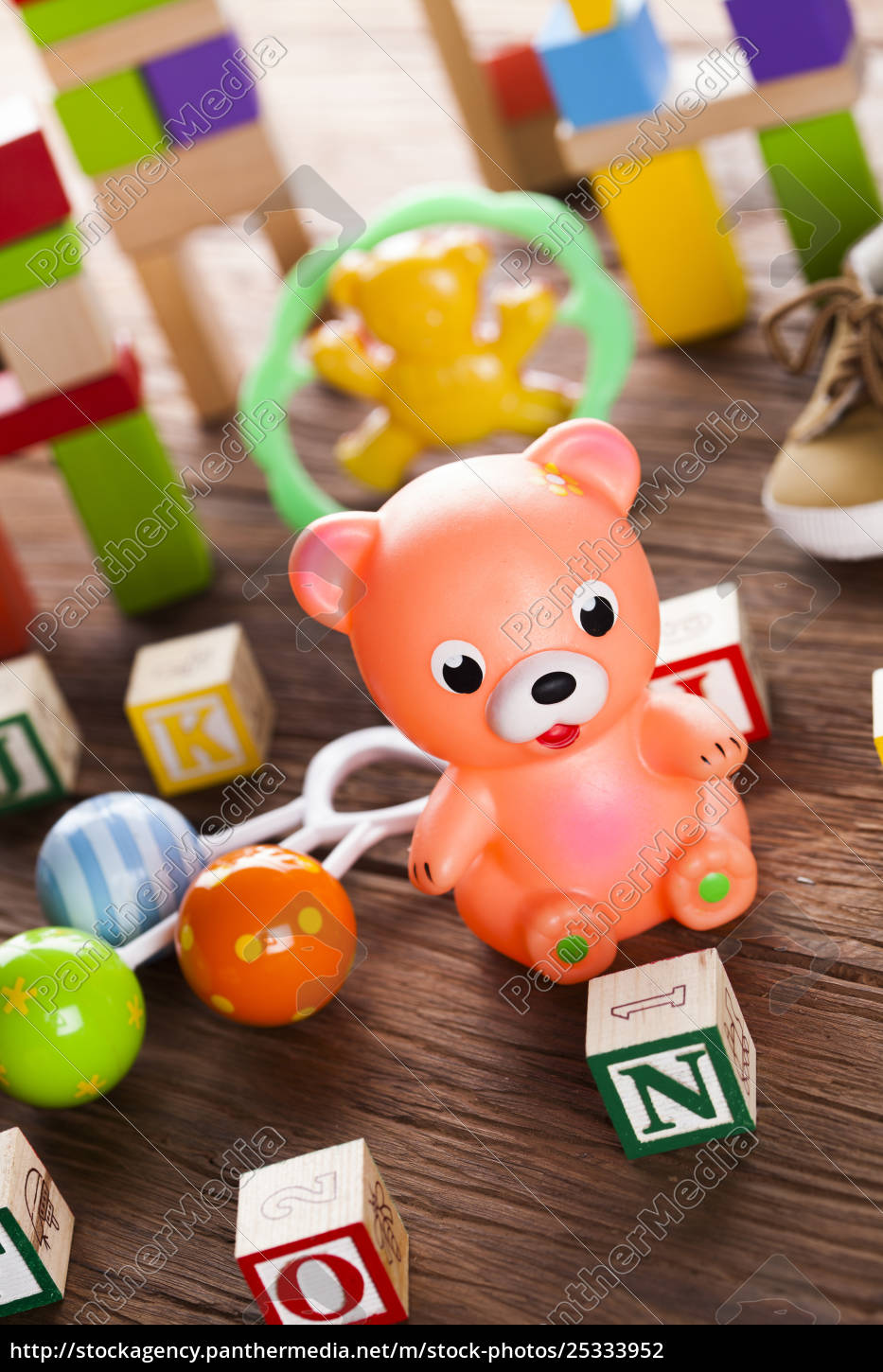 pile, of, toys, , collection, on, wooden - 25333952