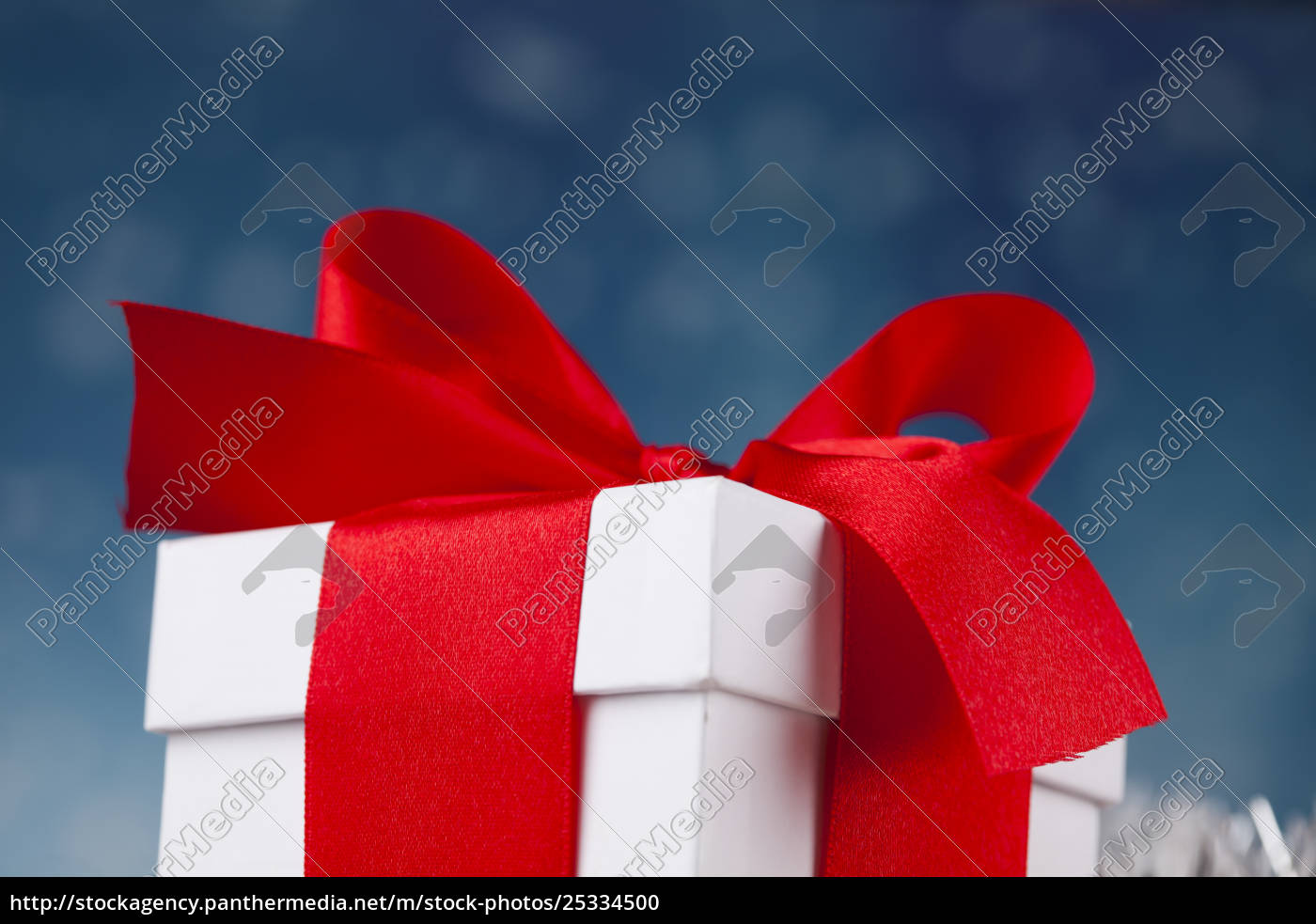 christmas, gift, box, , red, ribbon - 25334500