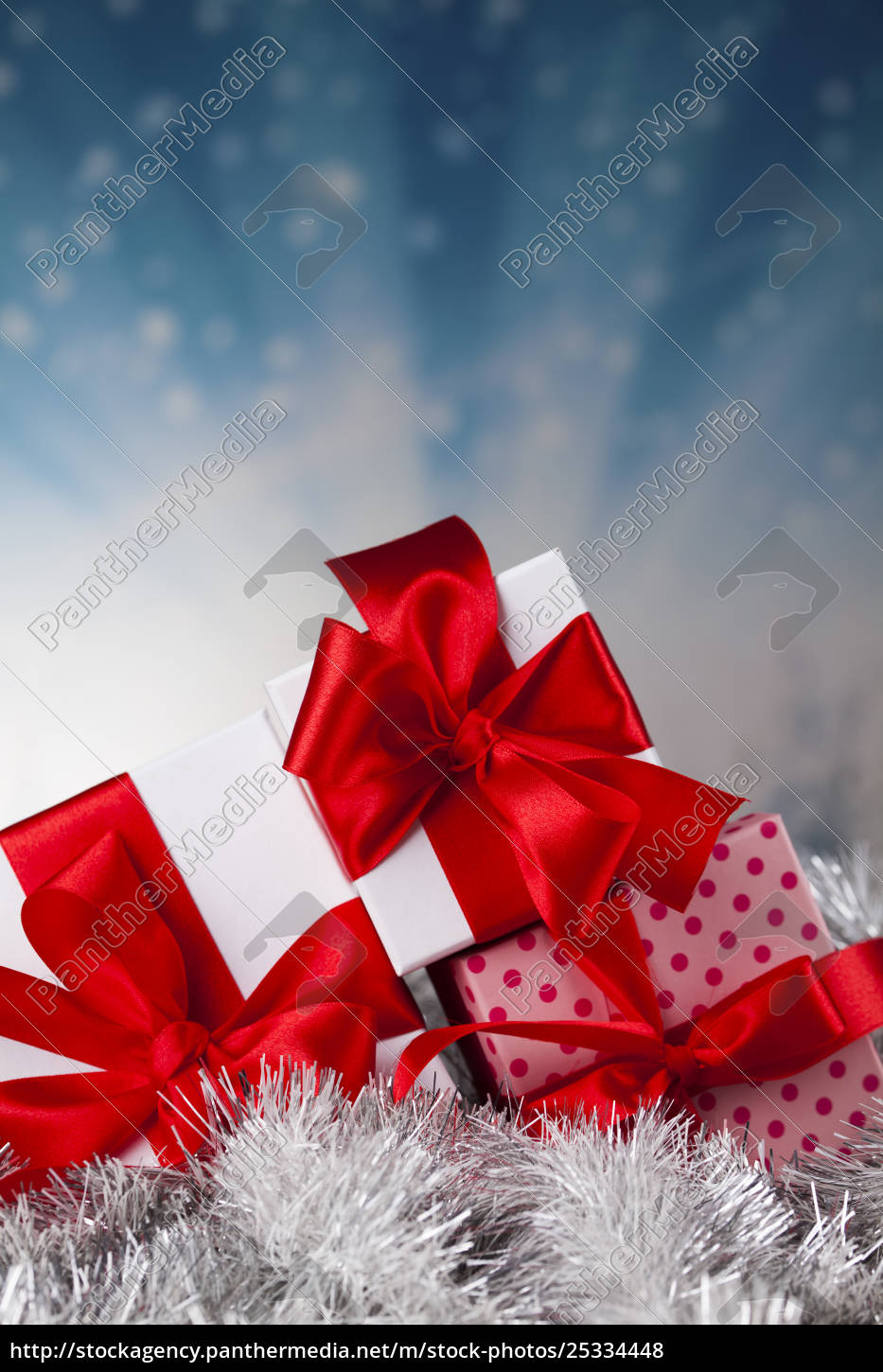 christmastime, celebration, , gift, box, with, red - 25334448