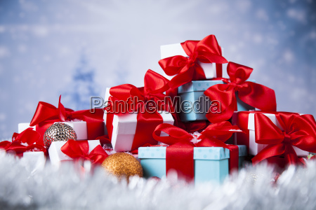 christmastime, celebration, , gift, box, with, red - 25334656