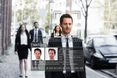 businessmans face recognized accurately with ai