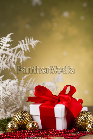 beautiful, gift, box, with, red, ribbon - 25335008