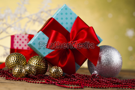 beautiful, gift, box, with, red, ribbon - 25336448