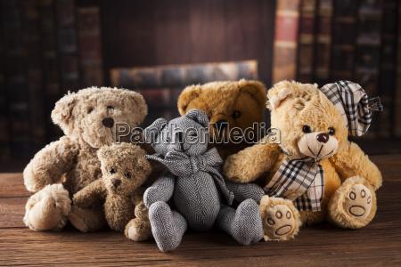 group, of, cute, teddy, bears, on - 25336438