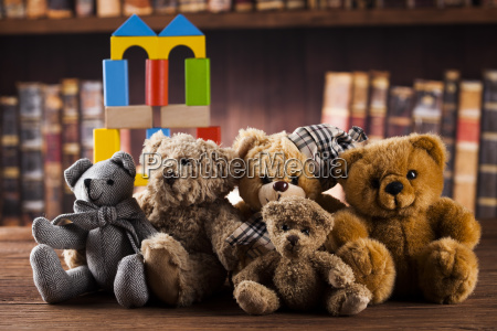 group, of, cute, teddy, bears, on - 25336832