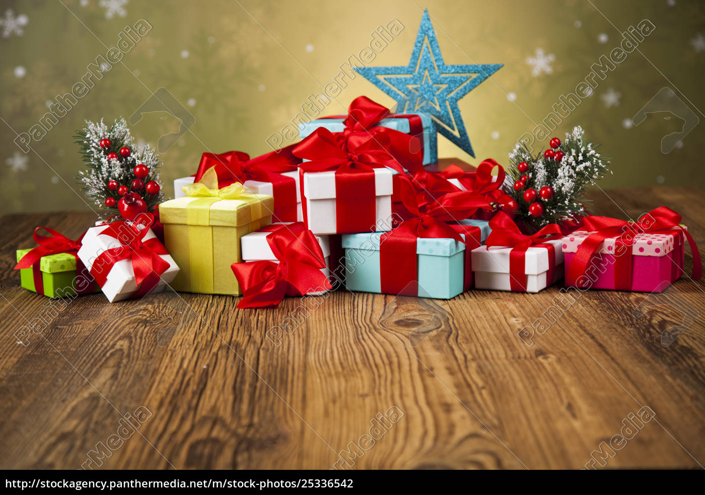 merry, christmas, frame, , gift, box, with - 25336542