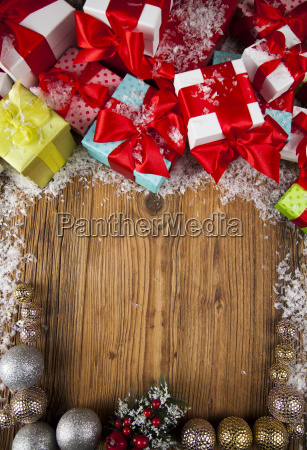 merry, christmas, frame, , gift, box, with - 25336902
