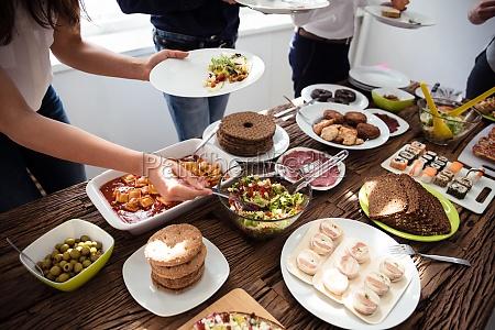 people, eating, healthy, meal - 25336308