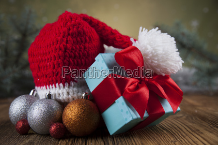 red, santa, hat, , holiday, christmas, background - 25336484