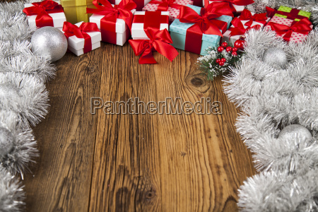 merry christmas frame gift box with
