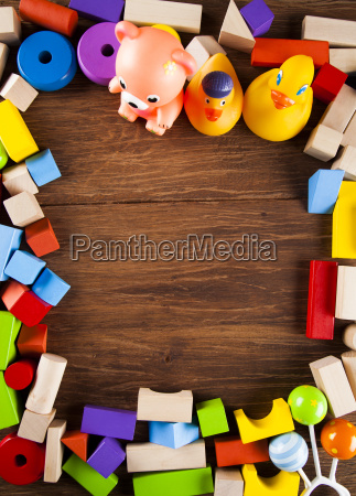 frame, , set, of, children, toys, , wooden - 25337572