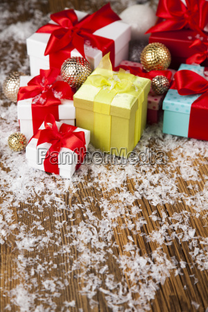 holiday, christmas, background, with, stack, of - 25337452