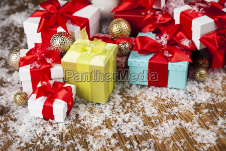 holiday, christmas, background, with, stack, of - 25337496